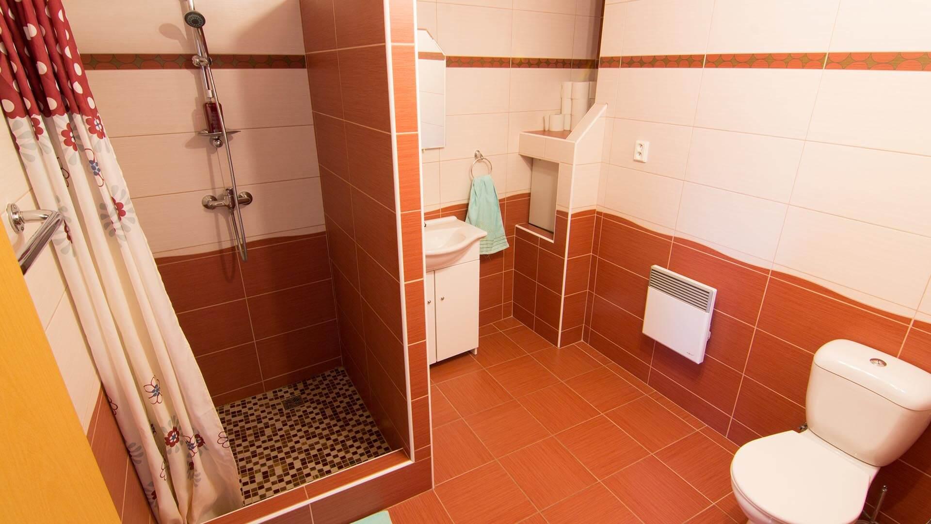 Sprcha, WC - penzion Velké Pavlovice